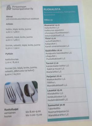 Palvelukeskuksien ja muiden ravintoloiden ruokalistat avoimeksi dataksi, tarve myös hallintajärjestelmälle