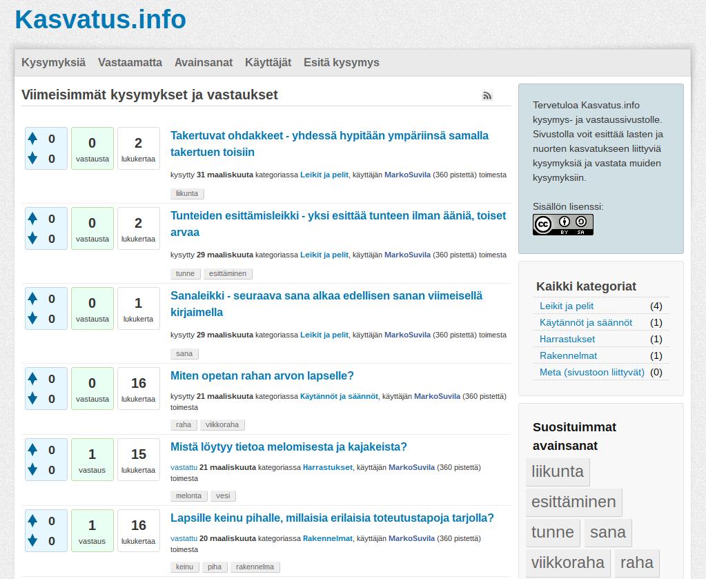 kasvatus.info – yhteisöllisesti rakentuva tietopankki lasten ja nuorten kasvatukseen liittyvälle tiedolle