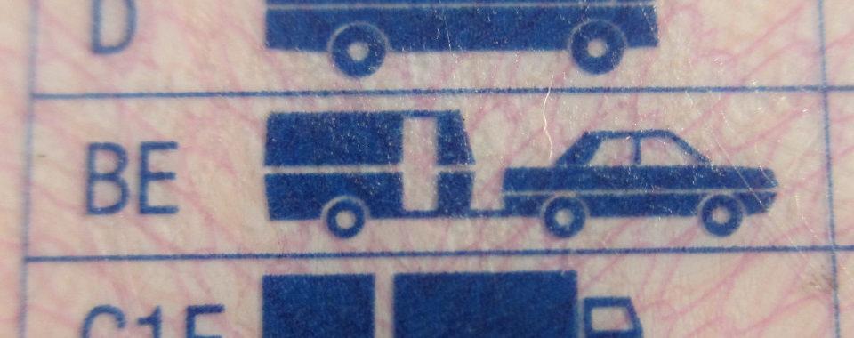 BE-ajokorttiluokan merkintä ajokortissa